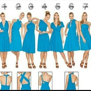 [NWOT!] AVON sea blue infinity dress